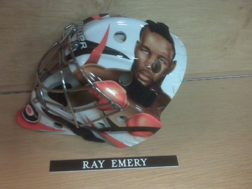 New Ray Emery mask Courtesy of Kevin Kurz